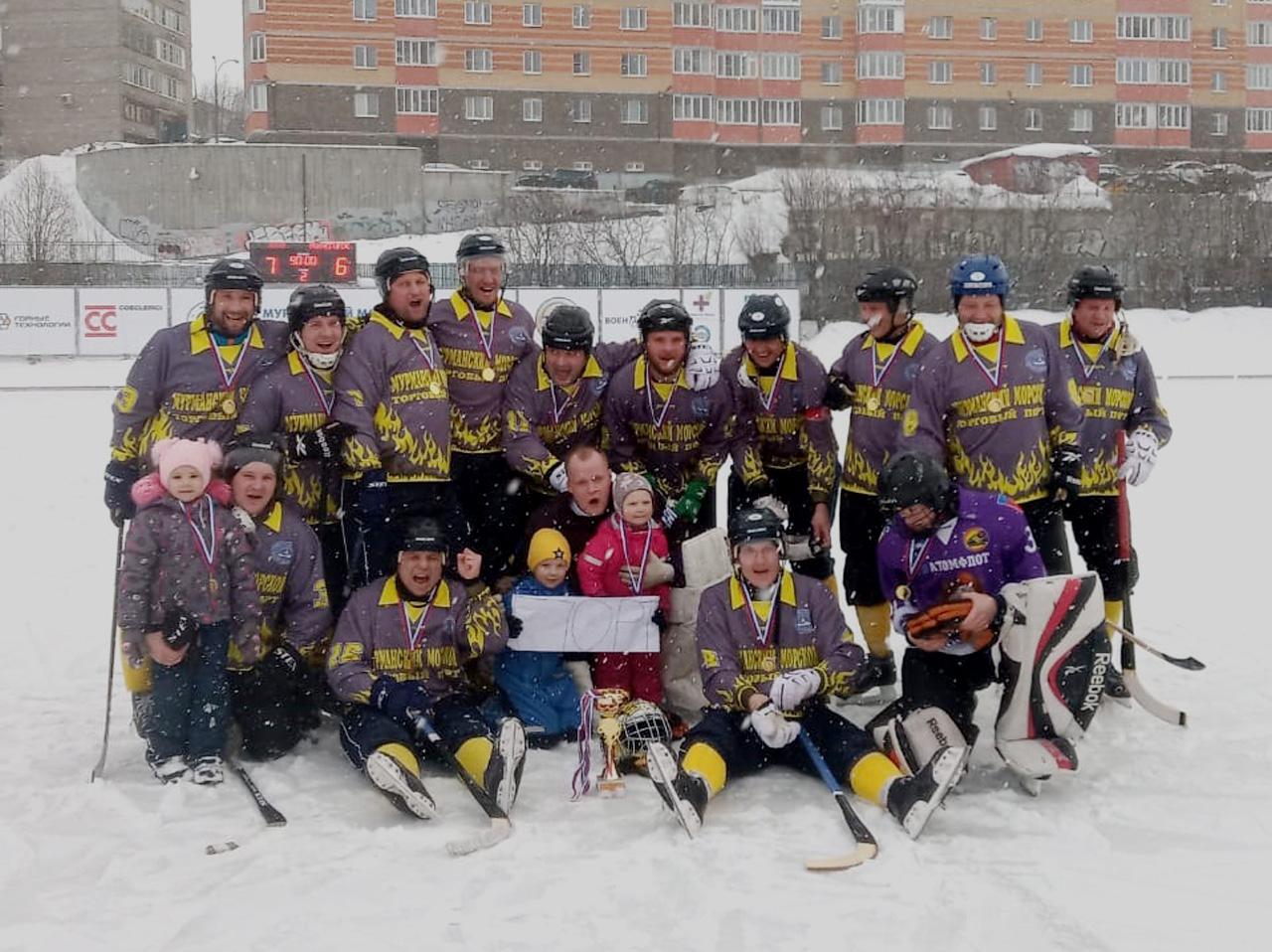 Команда «ММТП» впервые победила в чемпионате Мурманской области по хоккею с мячом